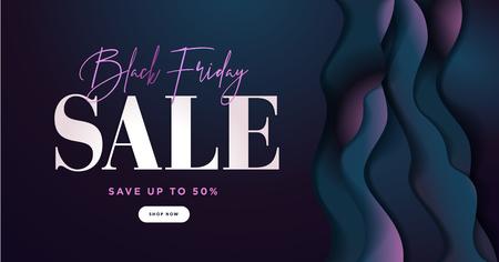 Black Friday sale banner. Social media vector illustration template for website and mobile website development, email and newsletter design, marketing material. 矢量图像