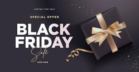 Black Friday sale banner. Illustration