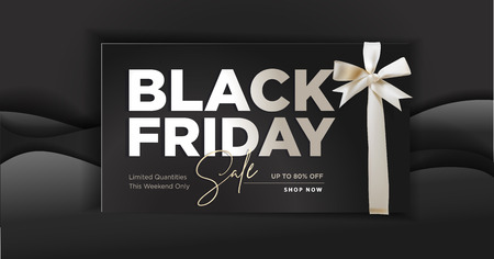 Black Friday sale banner. Illustration
