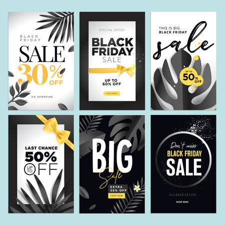 Black Friday sale banner. Ilustracja