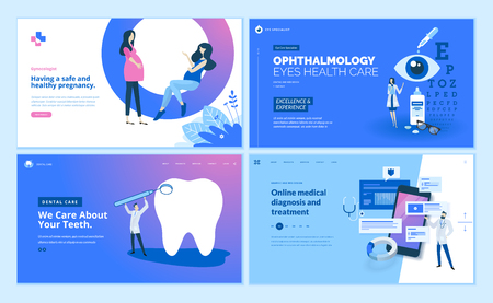 Web page design templates collection of gynecology