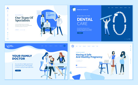 Web page design templates collection of family doctor