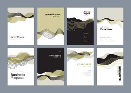 Set of brochure, annual report, flyer design templates in A4 size. 版權商用圖片 - 118852798