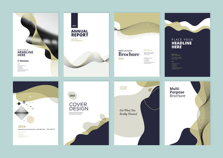 Set of brochure, annual report, flyer design templates in A4 size. Banque d'images - 118852797