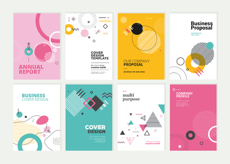 Set of brochure, annual report, flyer design templates in A4 size. Stock fotó - 118852805