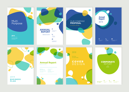 Set of brochure, annual report, flyer design templates in A4 size. Zdjęcie Seryjne - 118852801