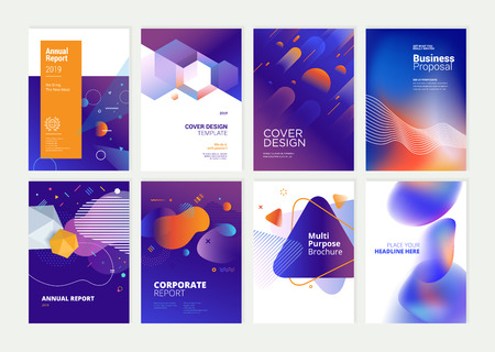 Set of brochure, annual report, flyer design templates in A4 size. Stockfoto - 118852809