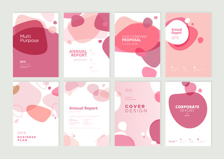 Set of brochure, annual report and cover design templates for beauty Stock fotó - 118853061