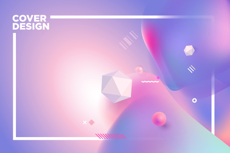 Abstract cover design template. Vector illustration concept for business presentation, marketing material, annual report, background, web design, invitation.