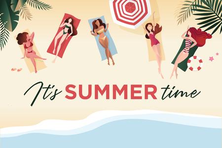 Summer time banner.