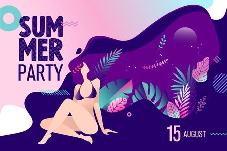 Summer party invitation.