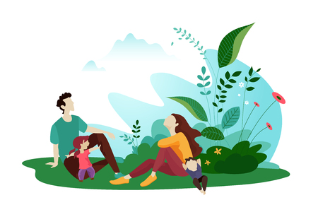 Platte ontwerpconcept voor web- en sociale media banner zomerkaartsjabloon, reis- en vakantieadvertenties, reclamemateriaal. Vector Illustratie