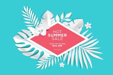 Summer sale. Web banner template design