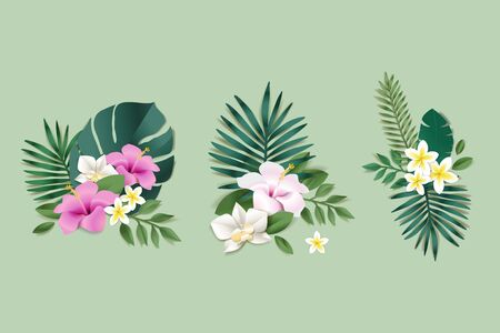 Set of flower  for web and graphic design, advertising, social media, labels and stickers.