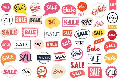Zestaw etykiet i naklejek na sprzedaż