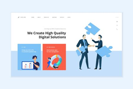 Modern vector illustration concept of web page design for website and mobile website development Vectores