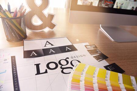 Graphic design. Creative concept for website and mobile banner Foto de archivo