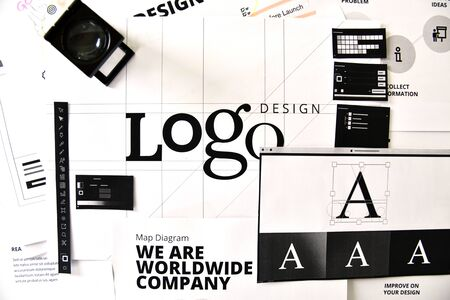 Corporate identity. Creative concept for website and mobile banner