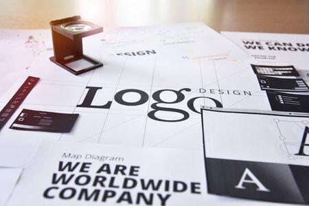Logo design. Creative concept for website and mobile banner