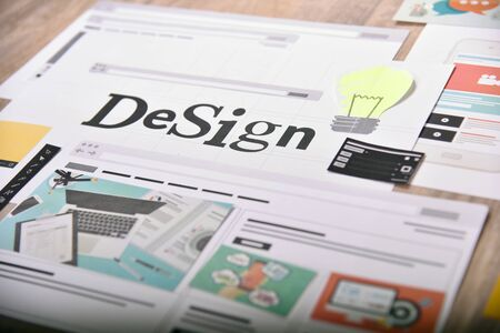 Design concept. Creative concept for website and mobile banner