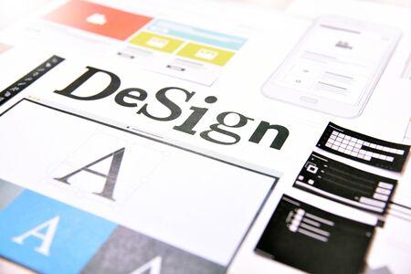 Creative concept for website and mobile banner Foto de archivo - 147720585