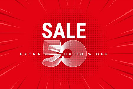 Sale banner in red