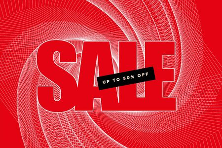 Sale banner in red and white