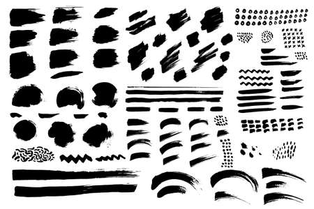 Set of hand drawn elements. Vector illustrations for graphic, web and social media design. Vecteurs