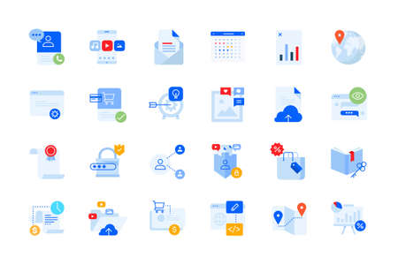 Modern flat design business icons. Vector concepts for website and app design and development, business presentation and marketing material.
