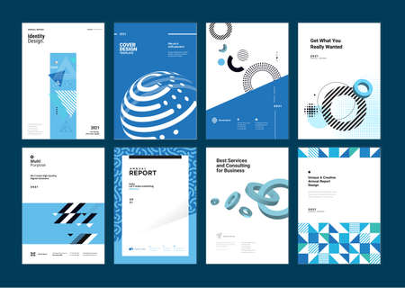 Set of brochure, business plan, annual report, cover design templates. Vector illustrations for business presentation, business paper, corporate document, flyer and marketing material.