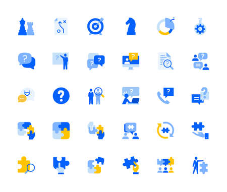 Teamwork icons set for personal and business use.
