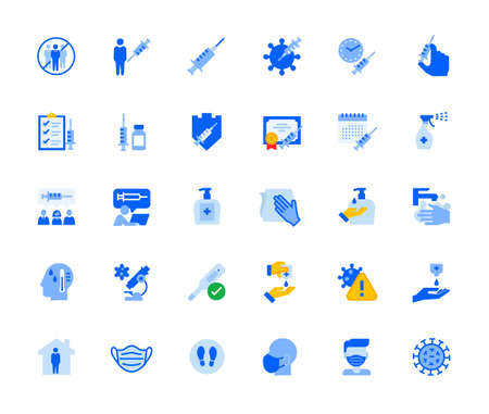 Disease prevention and healthcare icons set for personal and business use.