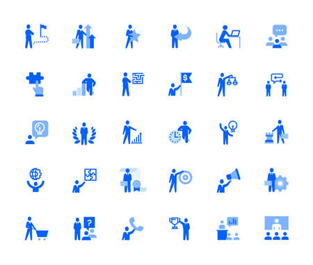 People business and marketing icons set for personal and business use.