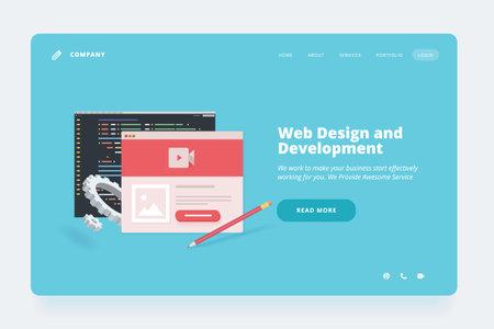 Web design template.