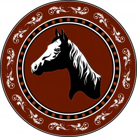 Simple illustration of horse head