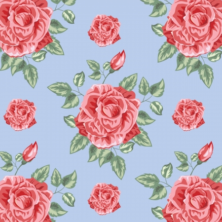 Roses Color Pattern  Vector