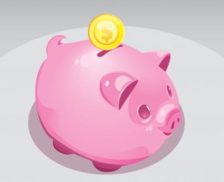A fat, shiny piggy bank