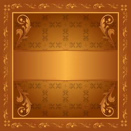 Detailed banner with scrollwork. Ready for the text of your choice Vector