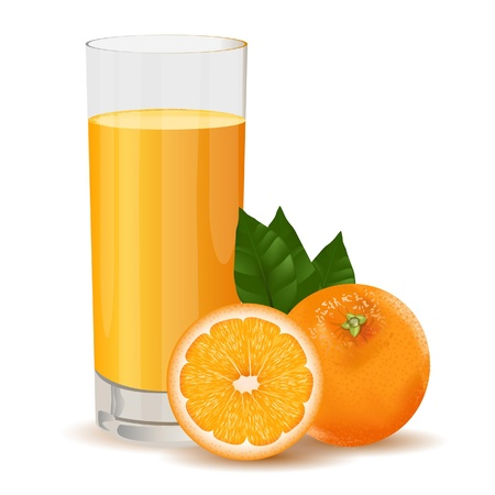 orange juice: A vector illustration of fresh orang juice
