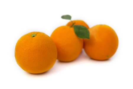 Group of oranges isolated on white background Stock Photo