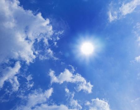 Sun Shining Between Clouds