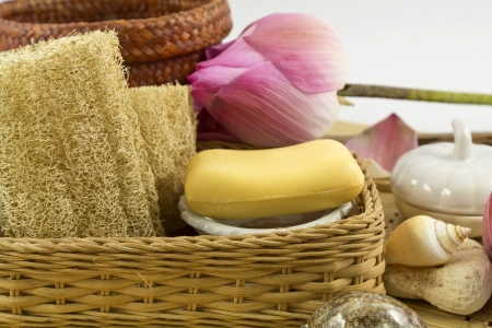 loofah and herbal scented soap