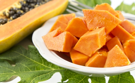 Papaya dessert on plate, Fruits for Healthy Eating