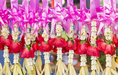 Thai spiritual flower garlands for sale