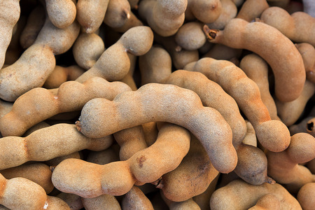 Organic Raw Brown Tamarind Stock Photo