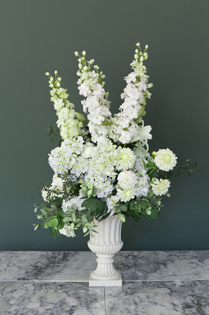 Bouquet flowers in a vase