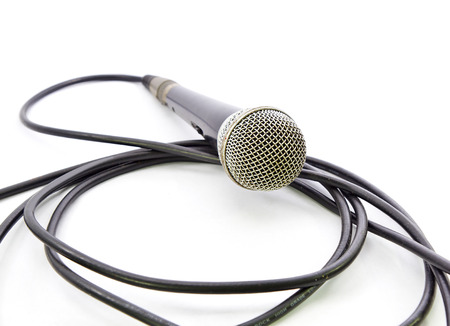 Close-up of a microphone Stock Photo