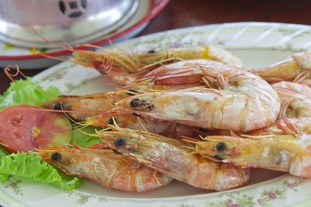 Steamed shrimp tableware
