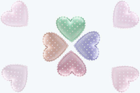 Candy White dot Hearts with isolated background Stock Photo - 8760100