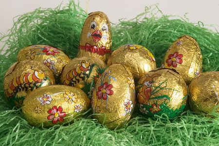 nosh: Easter nest with eggs